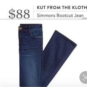 EUC. Kit from the Kloth Simmons Bootcut Jeans